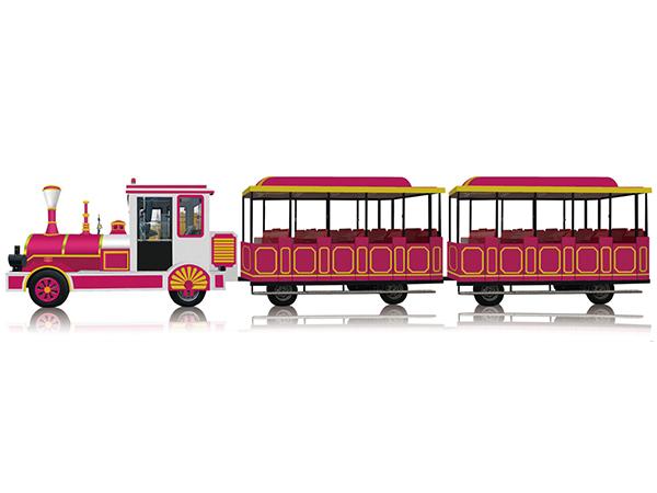 CHC-20型 时尚玫红无轨观光小火车