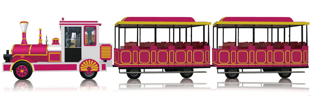 CHC-20型时尚玫红无轨观光小火车