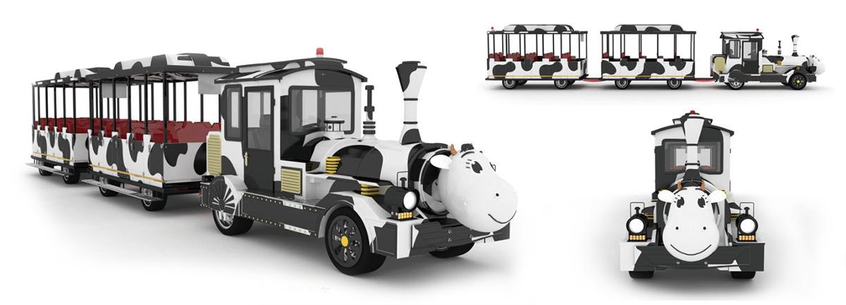 CHC-20型-奶牛定制款无轨观光小火车