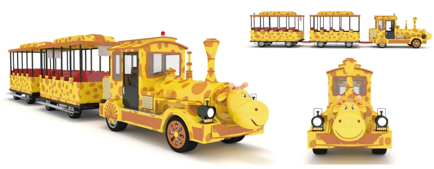 CHC-20型-长颈鹿定制款无轨观光小火车