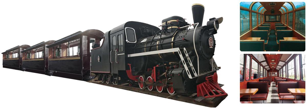 CHC-96人-磨砂黑轨道观光小火车
